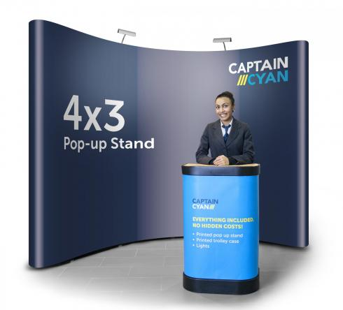 4x3 pop-up display banner stand