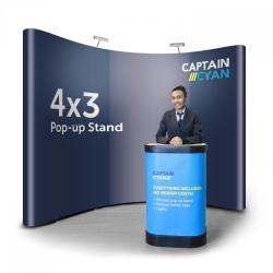 4x3 popup display banner stand