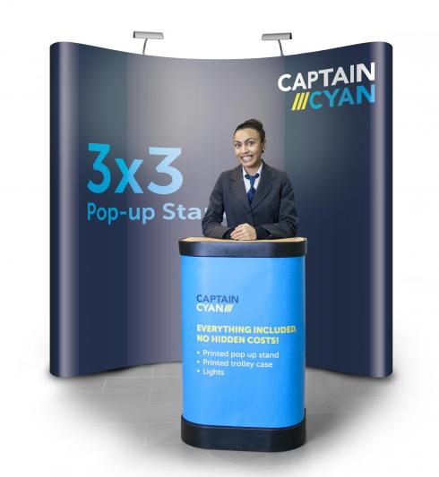 3x3 pop-up display banner stand