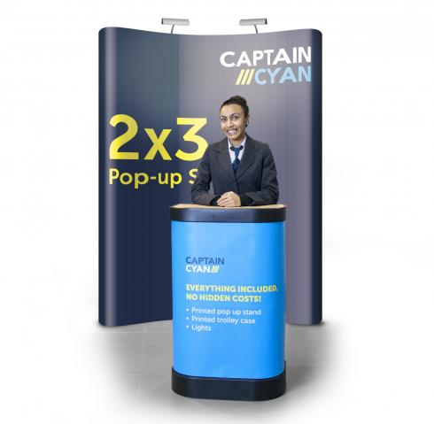 2x3 pop-up display banner stand