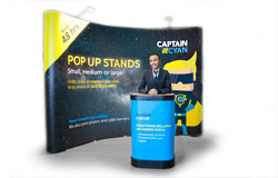 Pop-up display banner stands