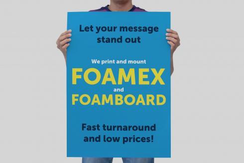 Expanded foamboard and foamex range