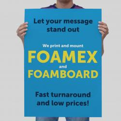Foamex and foamboard printing