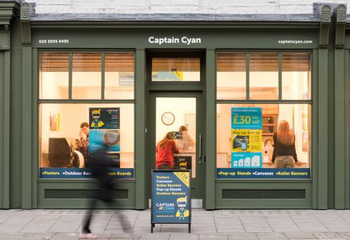Captain Cyan shop exterior