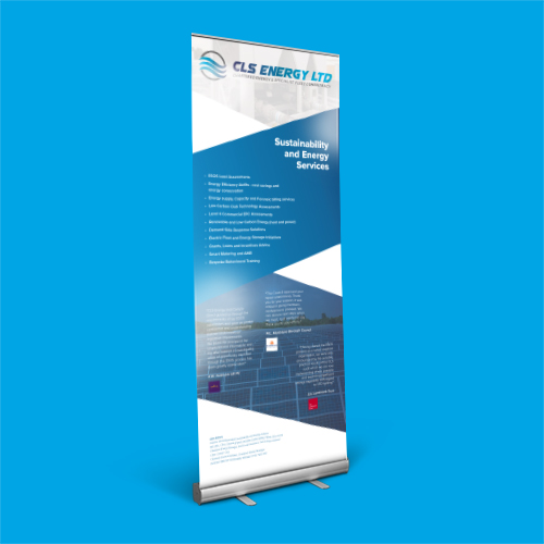 same day london roller banner printing captain cyan