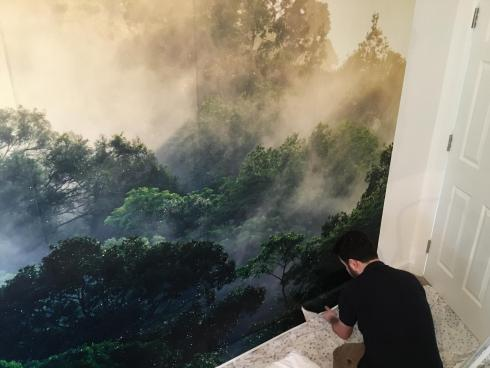 Ready-to-hang custom wallpaper application