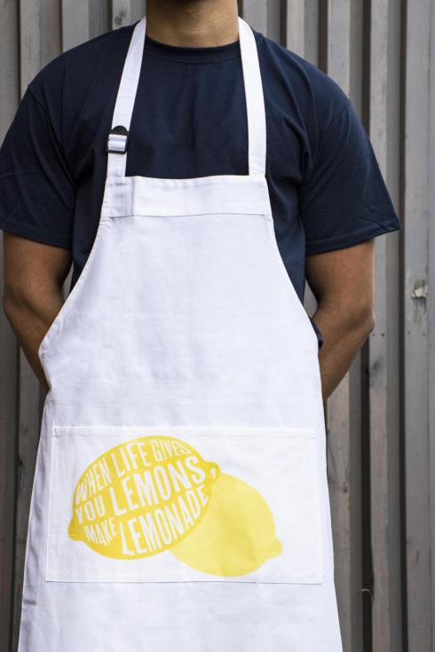 Digitally printed aprons