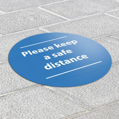 non-slip social distancing floor graphics ideal for lower traffic areas